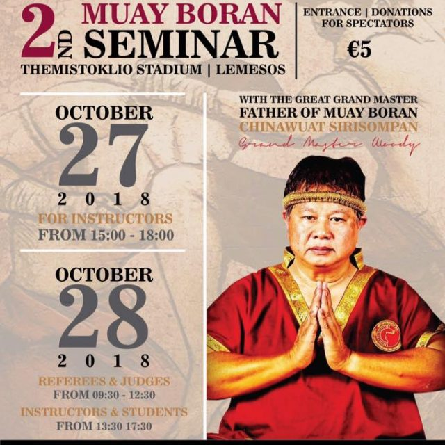 Grand Master Woody seminar in Cyprus and Lebanon